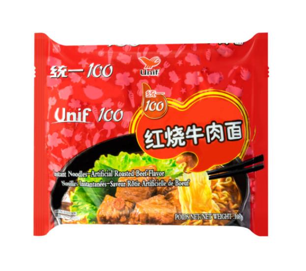 统一红烧牛肉面 Unif Noodle Roast Beef 119g