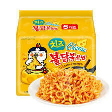 三养火鸡面-芝士味(5连包) Samyang Hot Chicken-Cheese (140gx5)