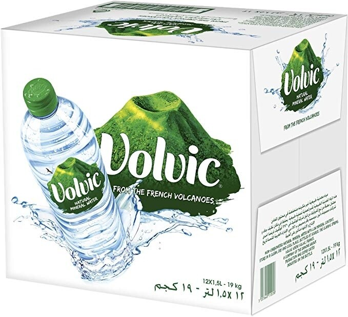 Volvic Natural Spring Water 1.5L x 12