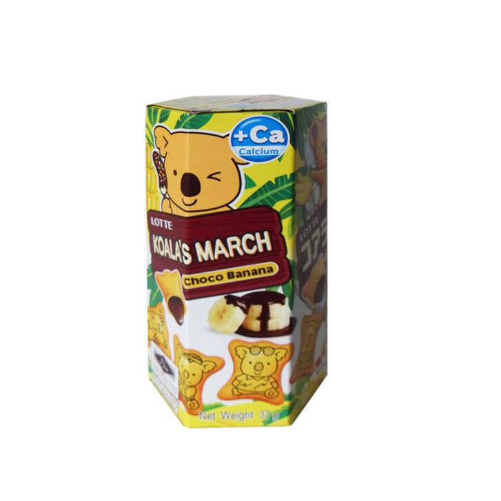 乐天熊仔饼朱香蕉古力味 Lotte Koala's March Banana Chocolate 49g