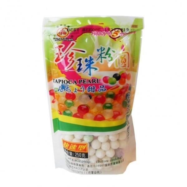 五福圆珍珠粉圆 (彩色)WFY Tapioca Pearl 250g