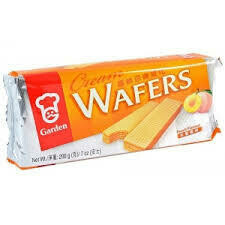 Garden Cream Wafers Peach 200g