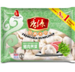 香源猪肉荠菜水饺 FA Pork&Shepherd's Purse Dumplings 400g