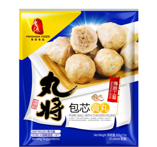 Fresh Asia Pork balls with chicken filling 200g