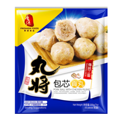 Fresh Asia Pork balls with chicken filling 200g