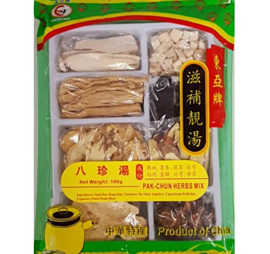 东亚八珍汤 EA Pak chun herbs mix soup stock 100g