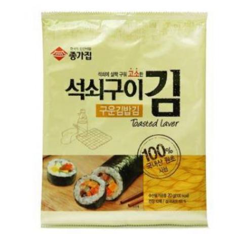 Chongga Toasted Laver (for Kimbap) 20g