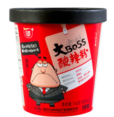 BJ Big Boss Vermicelli -Sour & Hot 145g