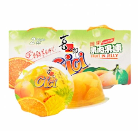 喜之郎什锦果肉果冻(2杯装) ST 2Cups Mixed Fruit Jelly 400g
