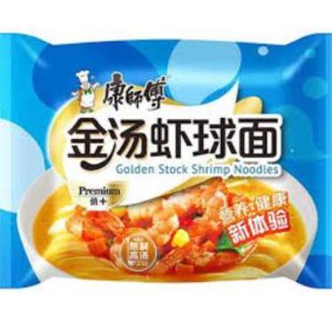 康师傅金汤虾球面 Master Kong Golden Shrimp Noodles 106g