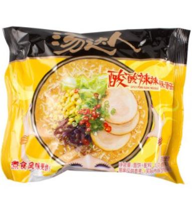 统一汤达人酸酸辣辣豚骨面袋装 Unif Noodle- Hot & Sour Pork Ribs 128g