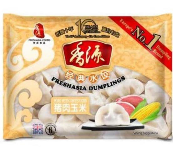 Fresh Asia Pork & Sweetcorn Dumplings 400g