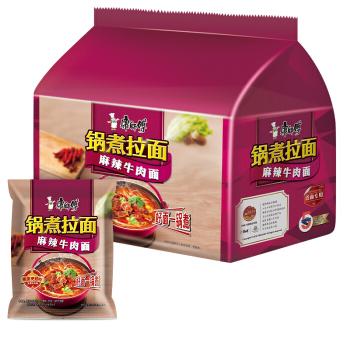 康师傅锅煮拉面-麻辣牛肉(五连包) MK Instant Noodles - Hot & Spicy Beef (122gx5)