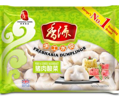 Fresh Asia  Pork & Chinese Sauerkrant Dumplings 400g