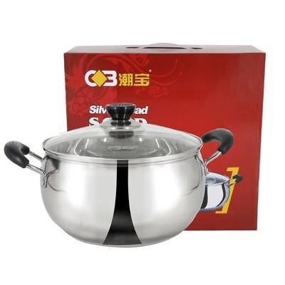 Silver Bead Soup Pot 22cm