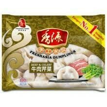 Fresh Asia Beef & Celery Dumplings 400g