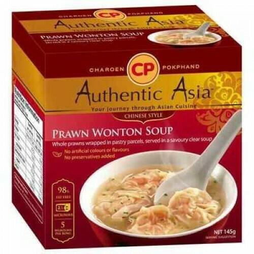 CP Hand Wrapped King Prawn Wonton Soup 145g