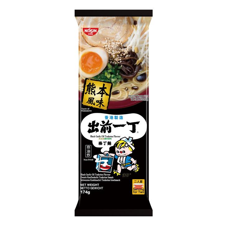 Nissin Demae Ramen Bar Noodle - Black Garlic Oil 174g