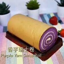 Taro Swiss Roll