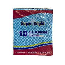 Super Bright 10 All Purpose Cloths