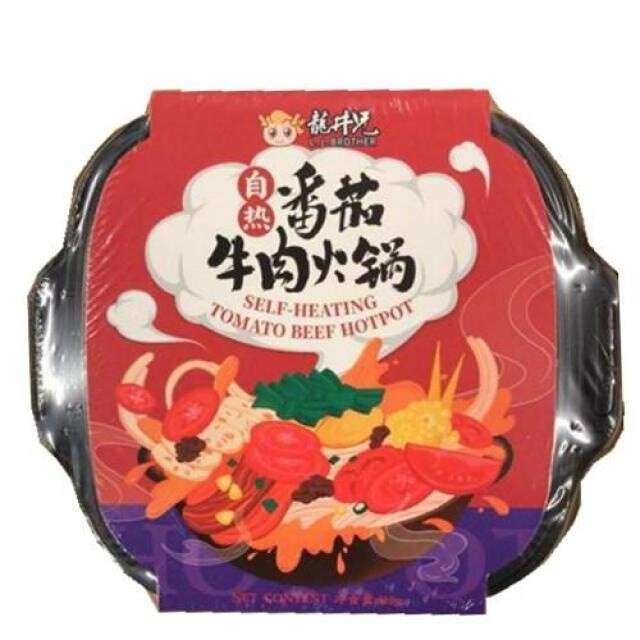 L.J.Brother  Self Heating Hot Pot - Tomato Beef 510g
