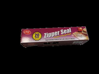 """E-lite Style 10"""" x 10"""" Zipper Seal Bags 20pcs"""