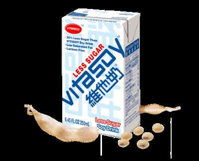 Vita Soy Less Sugar 6 packs