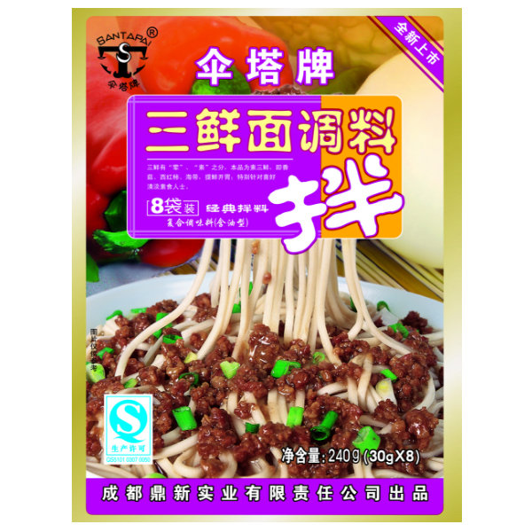 Santapai Noodle Sauce Three Seafood 30g x 8