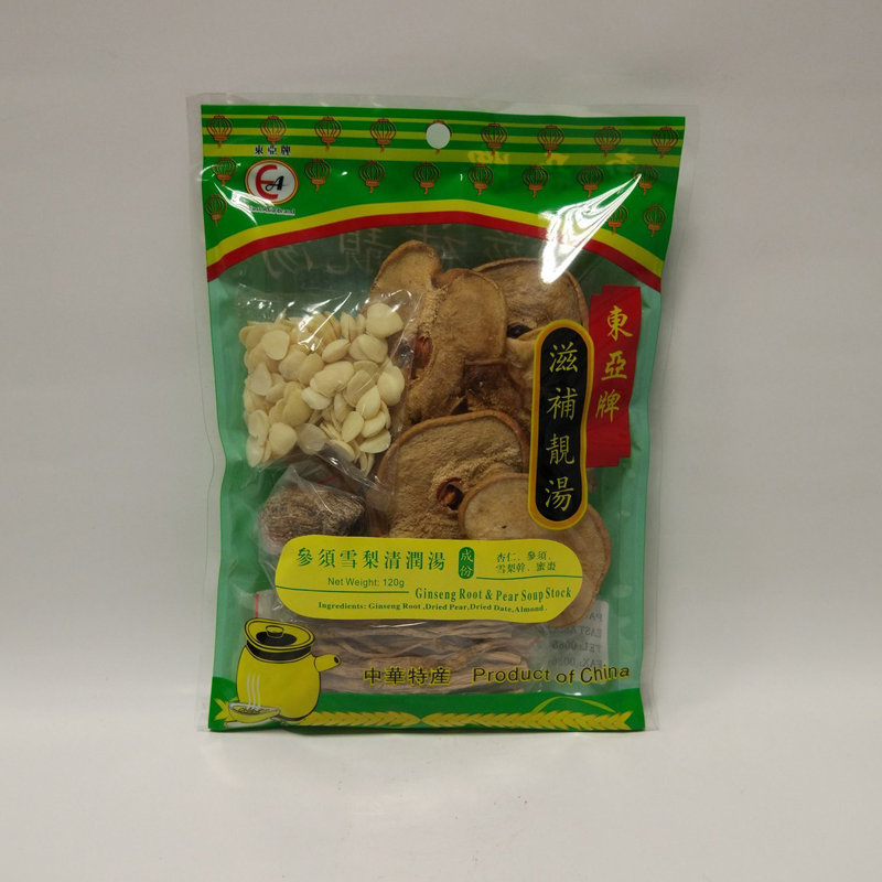 东亚参须雪梨清润汤 EA Ginseng Root & Pear Soup Stock 120g