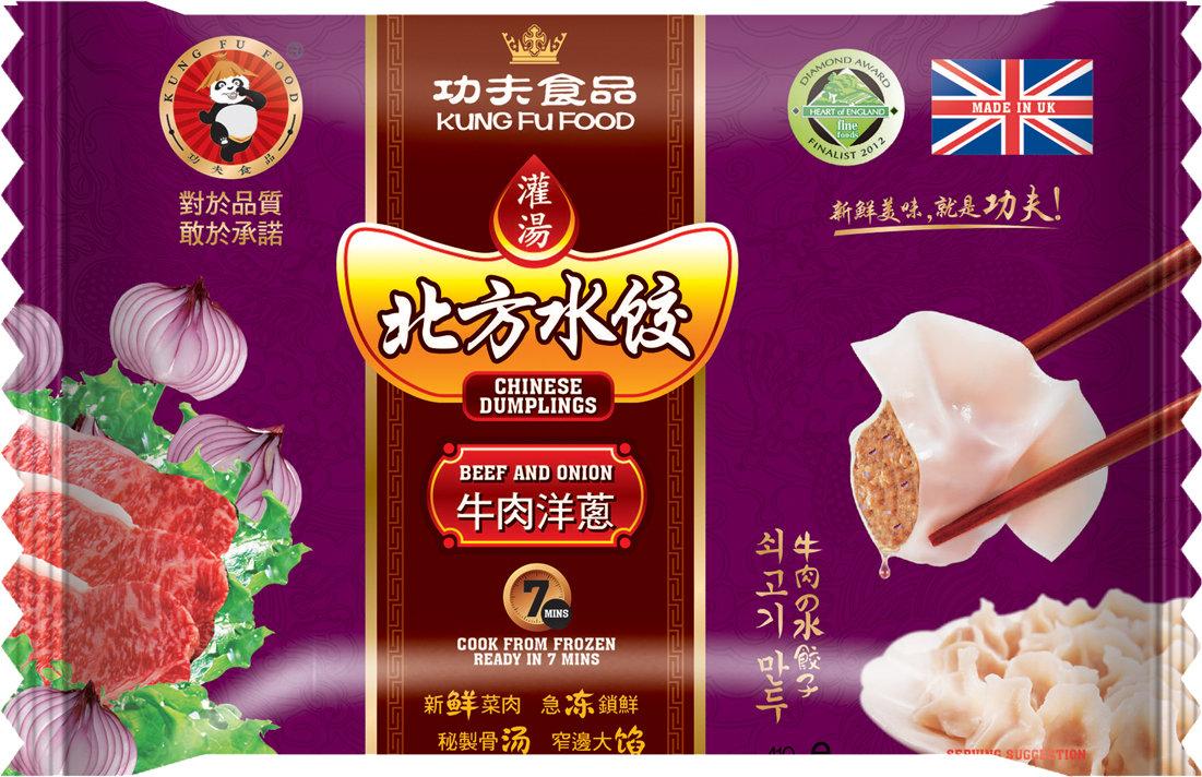 功夫牛肉洋葱水饺 Kung Fu Northern Beef & Onion 410g