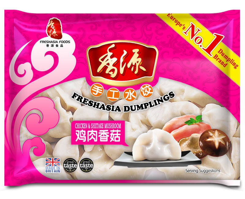 Fresh Asia Chicken & Mushroom Dumplings 400g