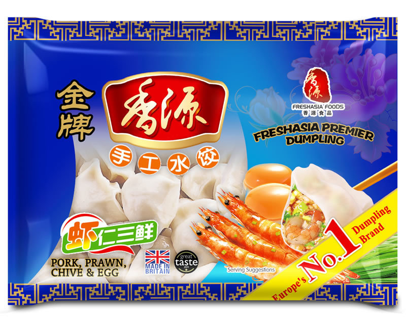 Fresh Asia Pork with Prawn Chive & Egg Dumplings 400g