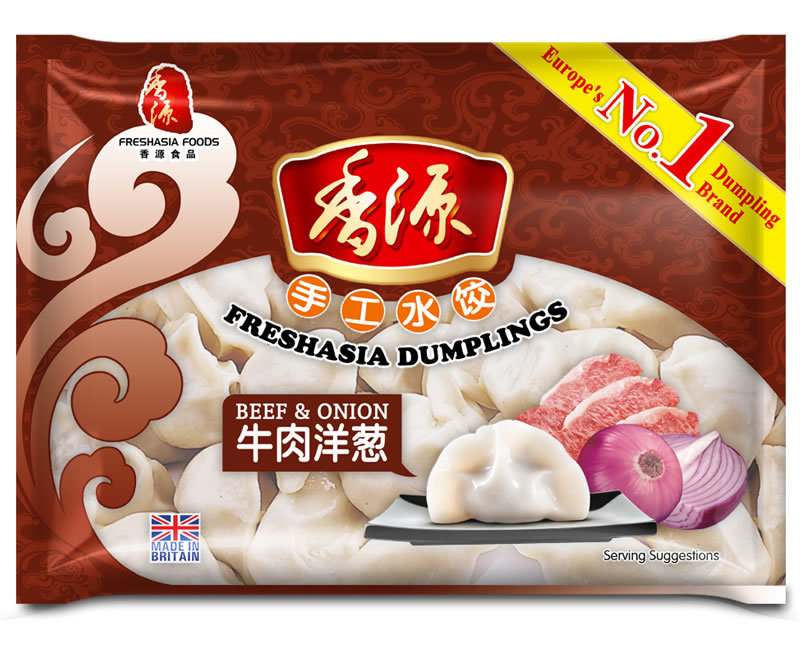 Fresh Asia Beef & Onion Dumplings 410g