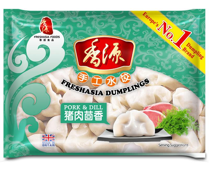 Fresh Asia Pork & Dill Dumplings 400g