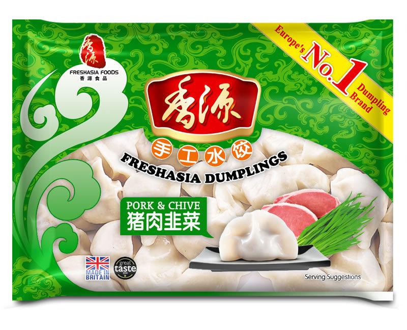 Fresh Asia Pork & Chive Dumplings 400g
