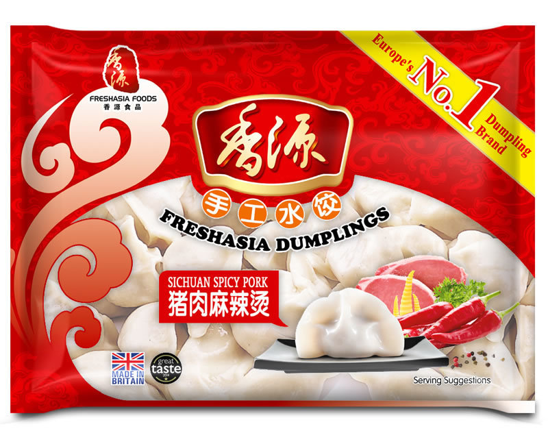 Fresh Asia Sichuan Spicy Pork Dumplings 400g