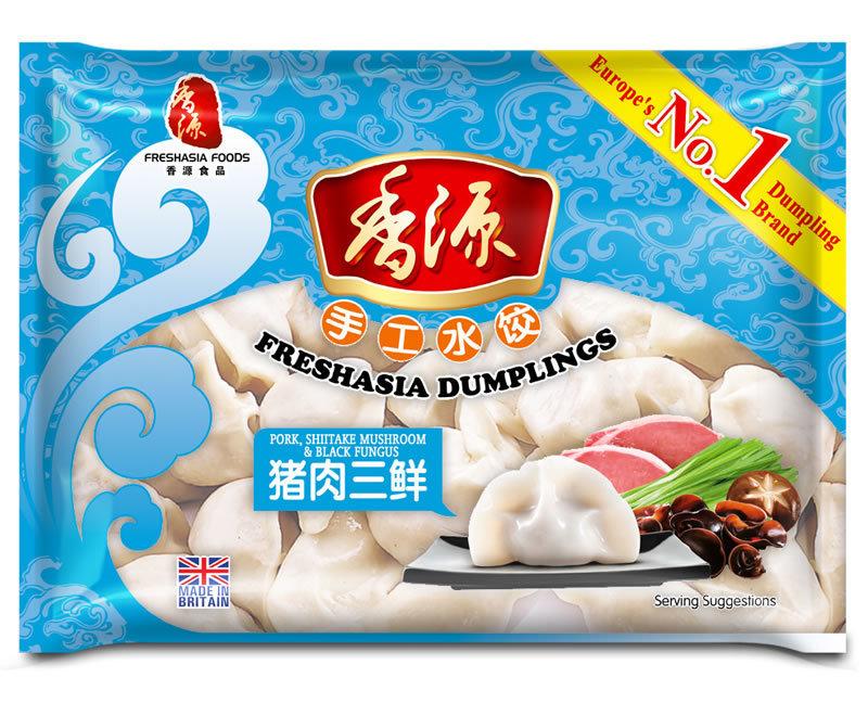 Fresh Asia Pork, Mushroom & Black Fungus Dumplings 410g