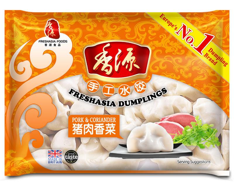 Fresh Asia Pork & Coriander Dumplings 410g