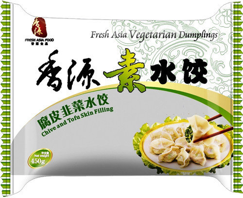 Fresh Asia Chives & Tofu Skin Dumplings 410g