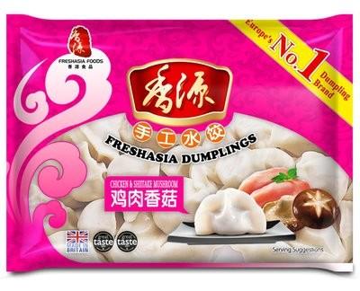 Fresh Asia Chicken & Mushroom Dumplings 400g