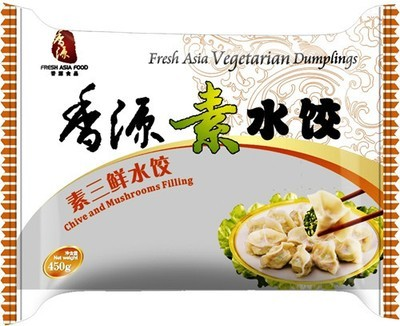 Fresh Asia Chive & Mushroom Dumplings 450g