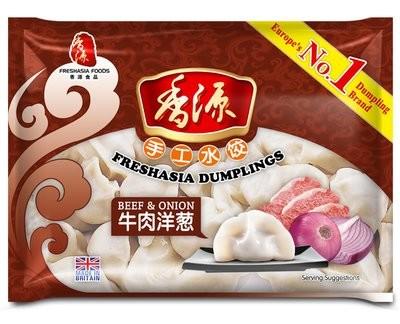 Fresh Asia Beef & Onion Dumplings 410g