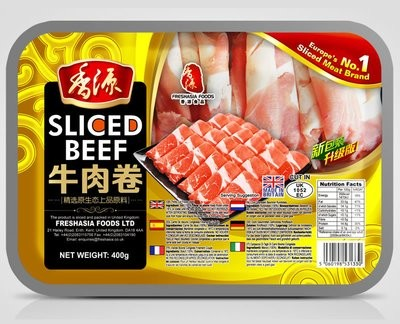 Fresh Asia Beef Slices 400g