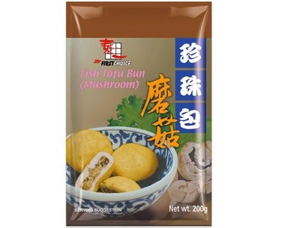 First Choice Fish Tofu Mushroom Bun 200g