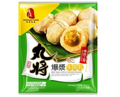 Fresh Asia Beef Balls with Chicken Filling 200g