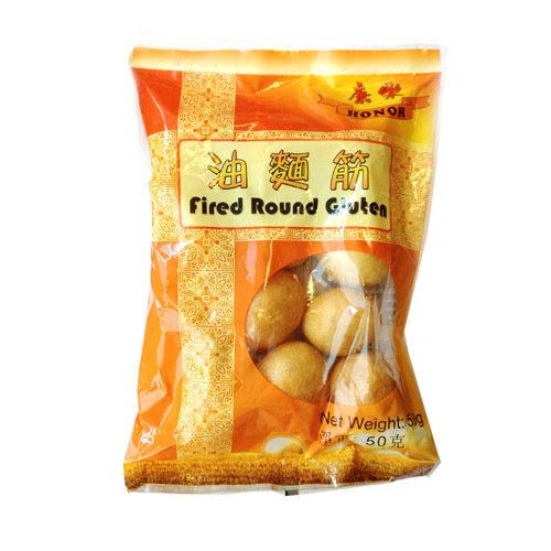 康乐油面筋 Honor Fried Round Gluten Balls 50g