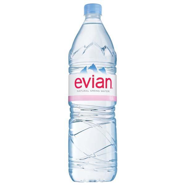 Evian Natural Spring Water 1.5L