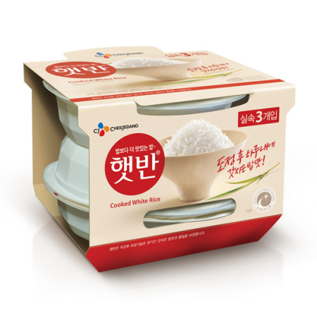 CJ Microwavable Cooked White Rice (210gx3)