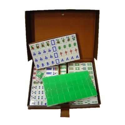 Mahjong w/Plastic Box - Light Green