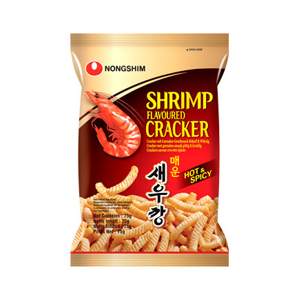 Nongshim Shrimp Crackers - Hot & Spicy 75g